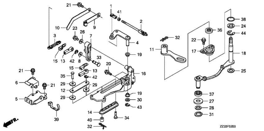 Сальник Honda 91251-ZW5-003