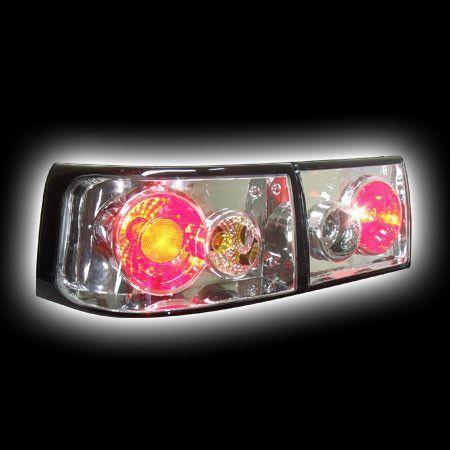 Фонари задние LADA 2110/11/12 прозрачный  хром с черной окантовкой