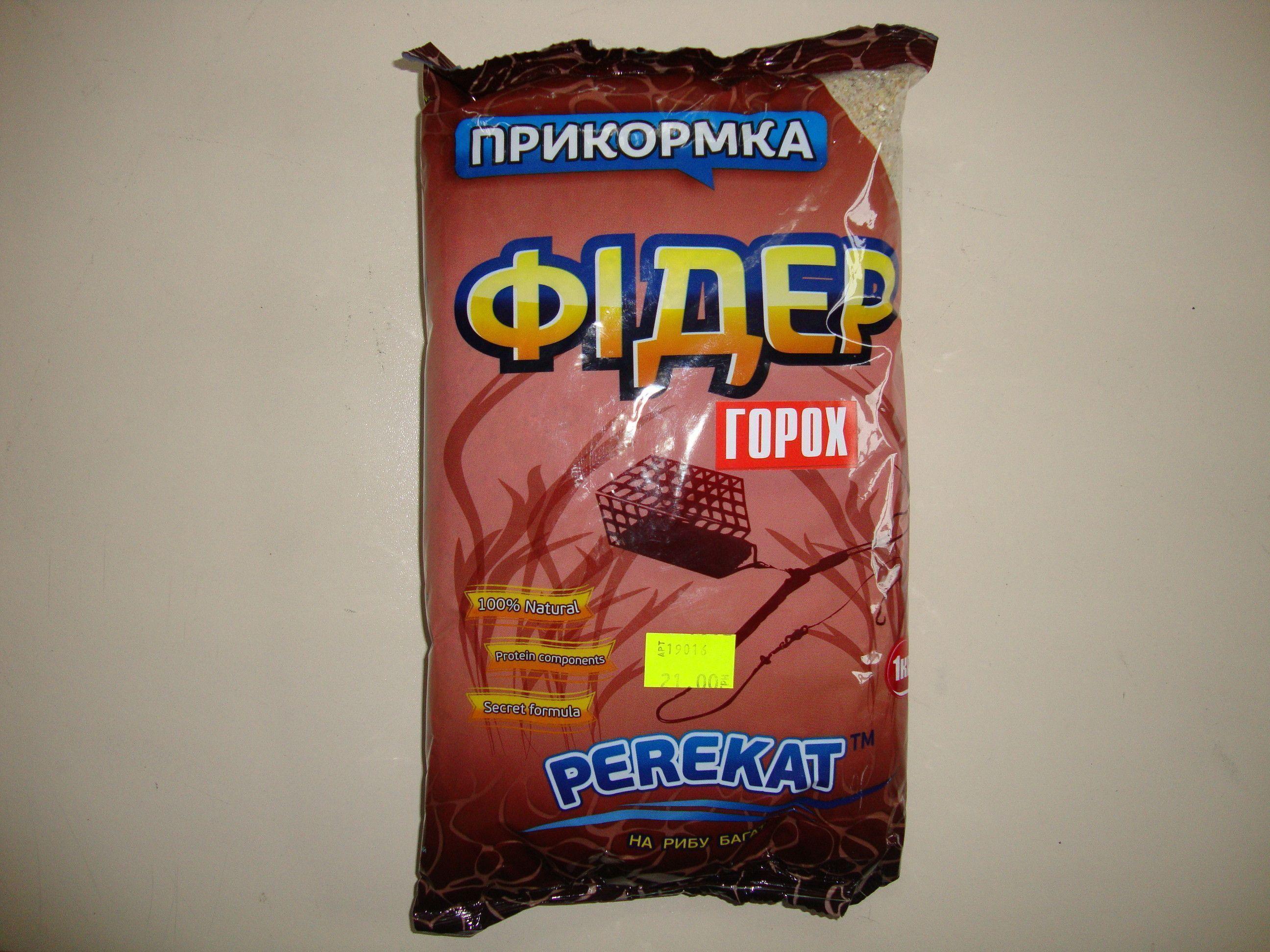 "Прикормка ""PEREKAT"" Фидер Горох"