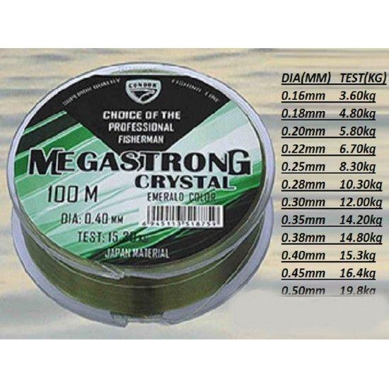 Леска Condor Megastrong Crystal 0.14мм