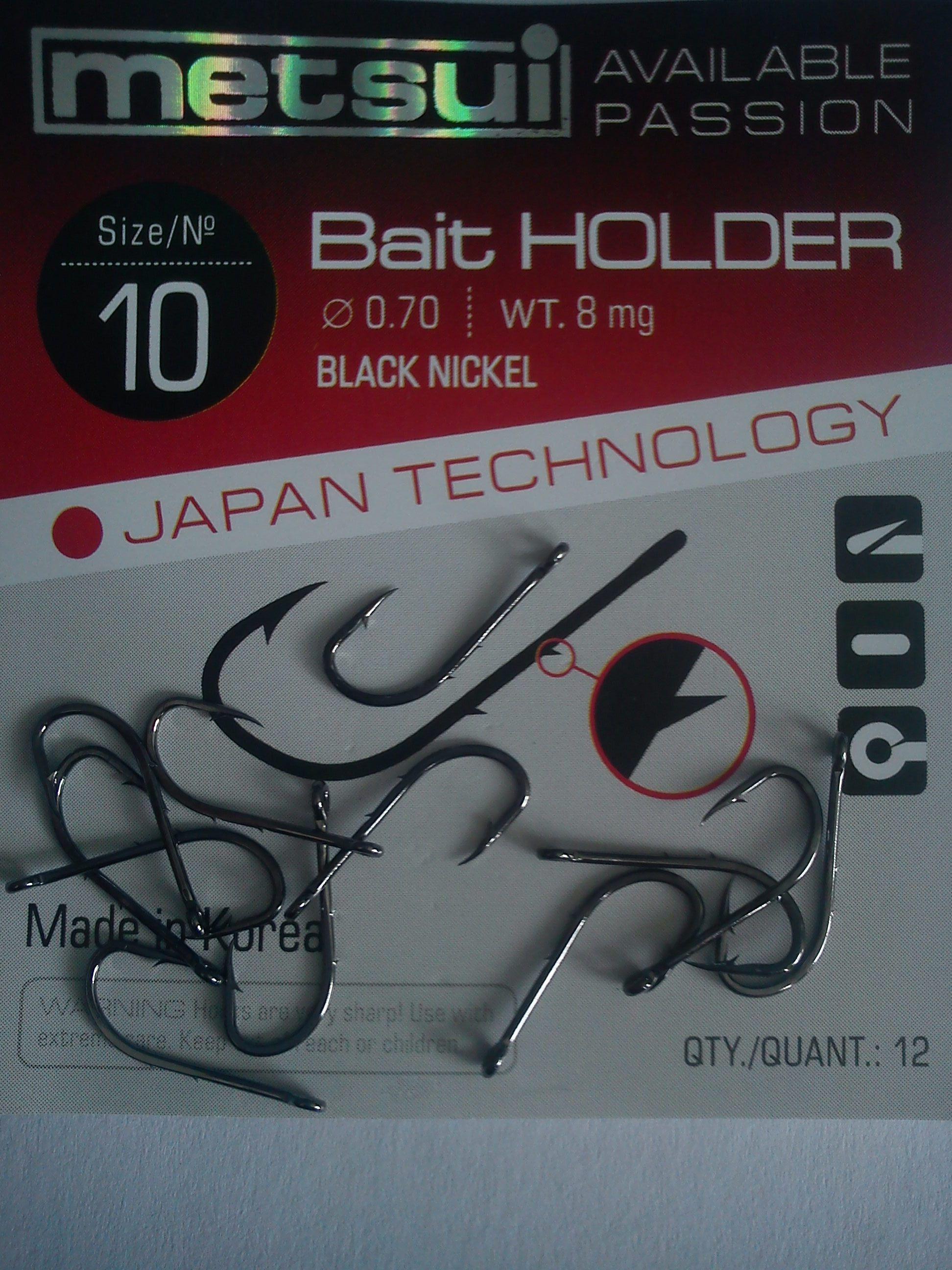 Крючки metsui BAIT HOLDER размер № 10