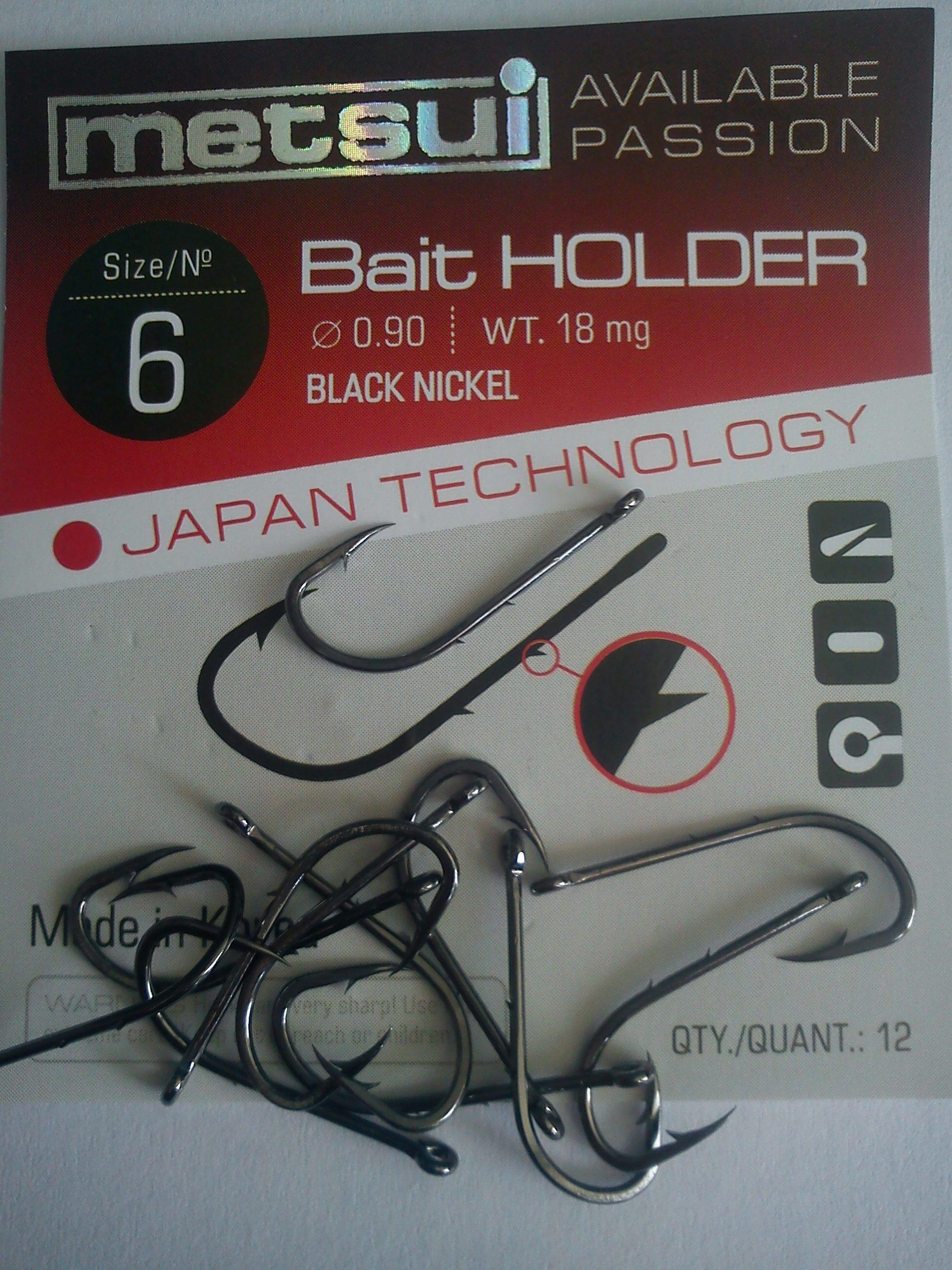 Крючки metsui BAIT HOLDER размер № 6