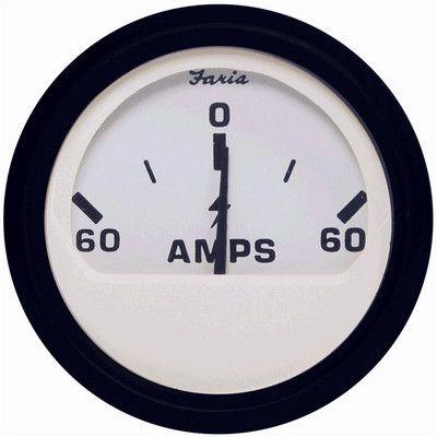 Амперметр лодочный 60-0-60 Euro White.