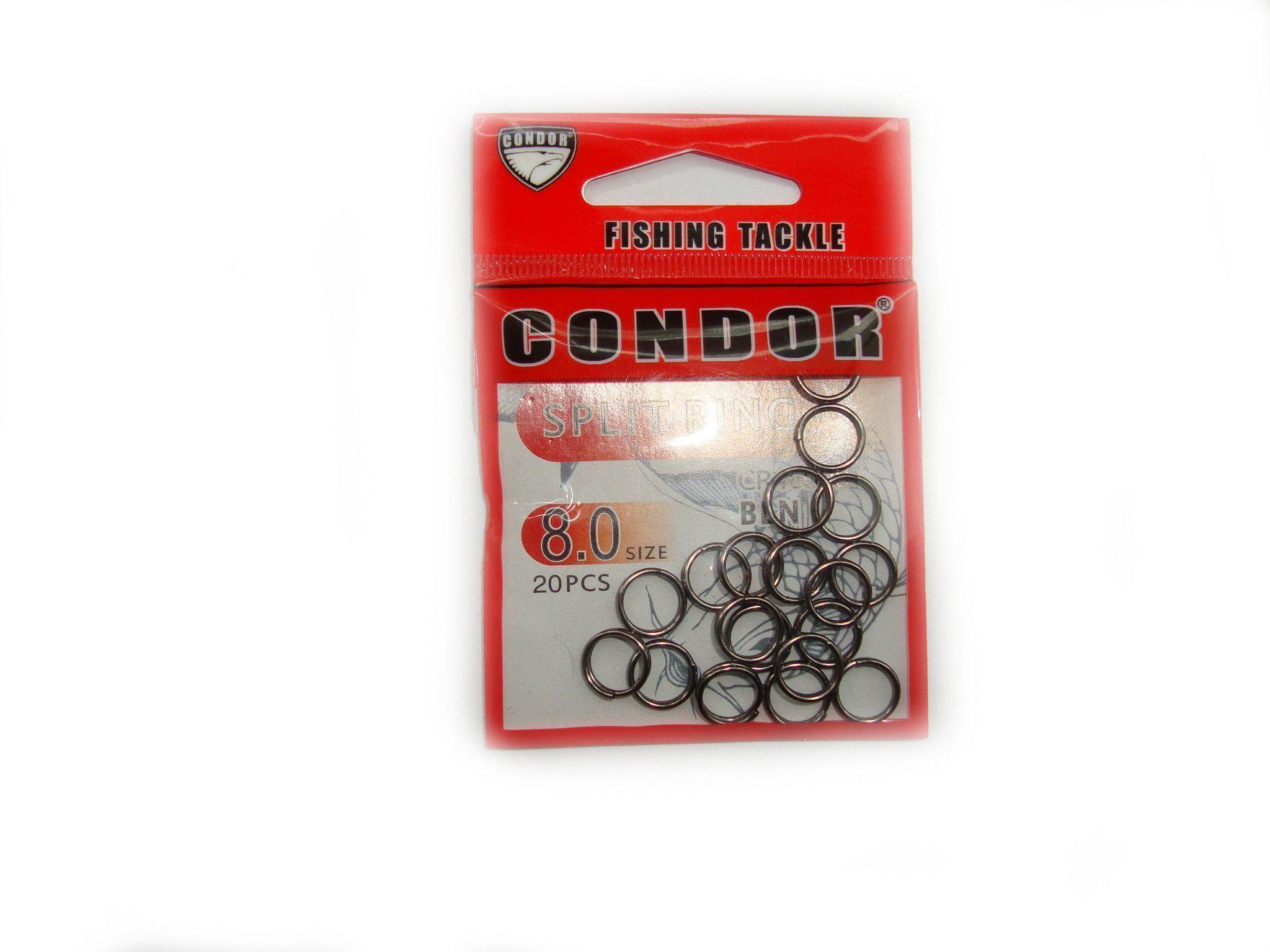 Заводные кольца CONDOR №8.0 20шт
