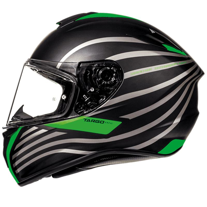 Мотошлем MT Helmets TARGO Doppler fluor green matt black р.L