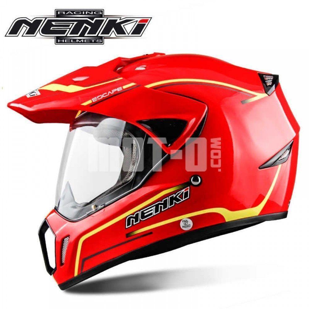 Мотошлем Nenki MX-310 Gloss Reed р.M