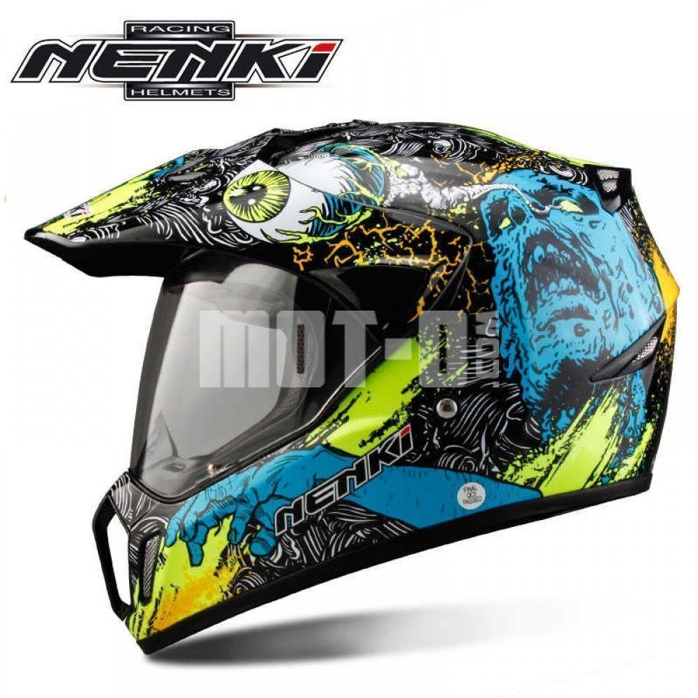 Мотошлем Nenki MX-310 Black Yellow р.M